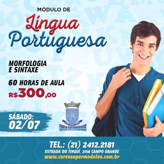 Estude Língua Portuguesa para concursos no Curso Supermódulos