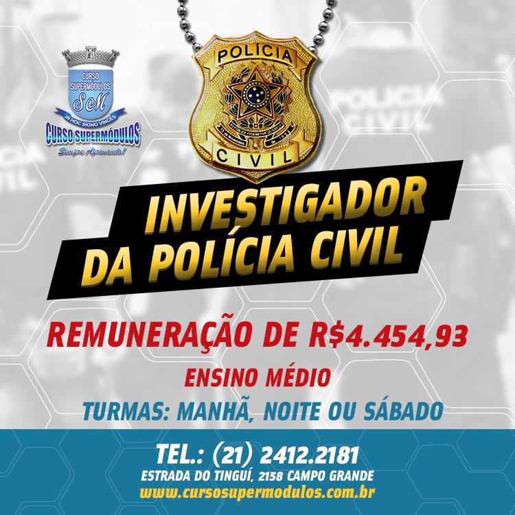 Estude para o Concurso da Polícia Civil no Curso Supermódulos